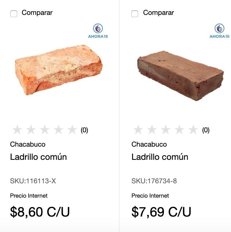 ladrillo comun precio Sodimac